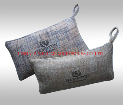 linen car pillow